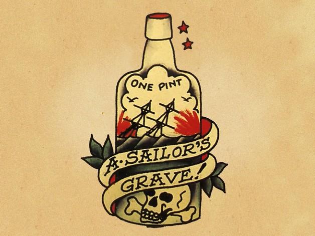 A Sailors Grave - Bottle Tattoo photo - 1