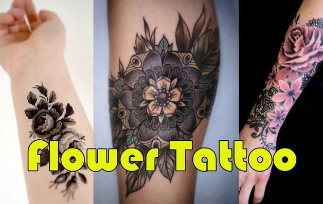 Again Flower Tattoo Design photo - 1