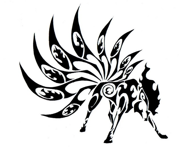 Amazing Black Bee Tattoo Design photo - 1