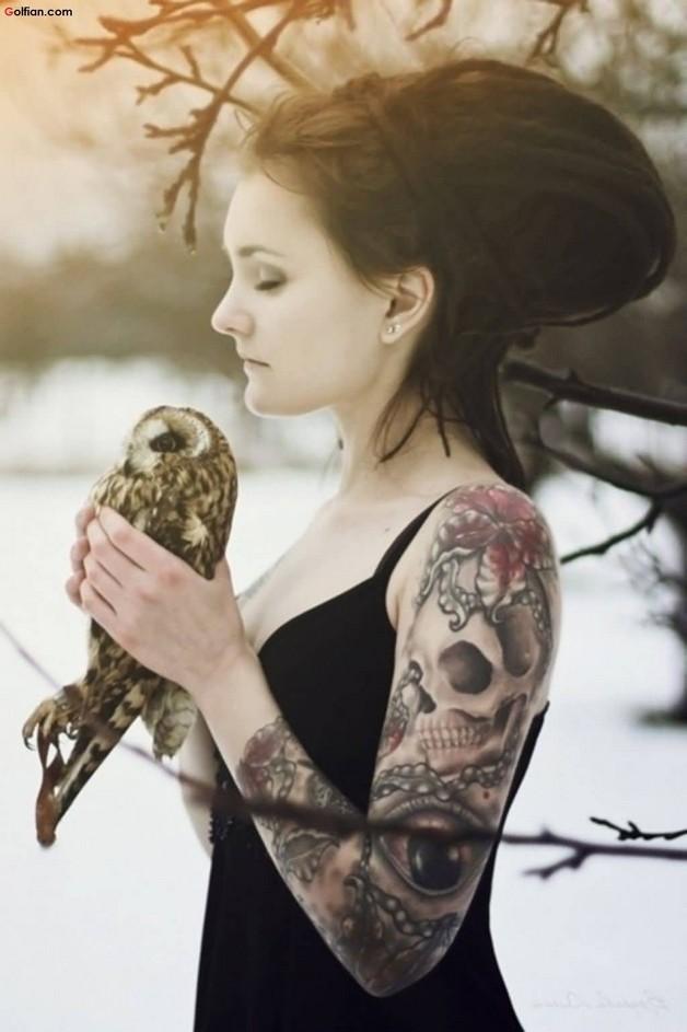 Amazing Bottle And Skull Tattoos On Arm photo - 1