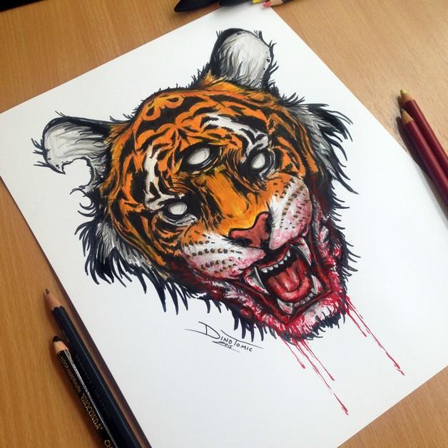 Amazing Tiger Tattoo photo - 1