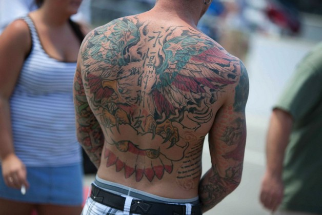 American Eagle Tattoo On Upper Back photo - 1