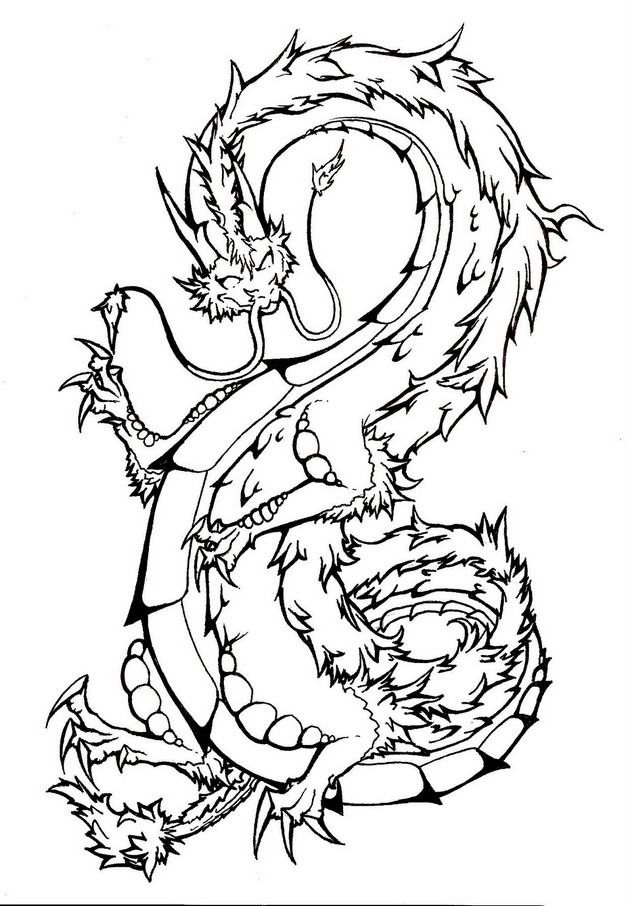 Angry Asian Dragon Tattoo For Men photo - 1