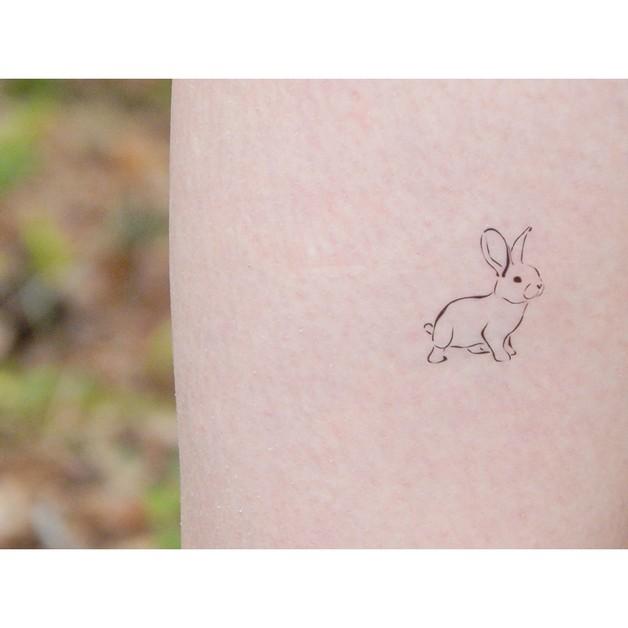 Animal Rabbits Tattoos Set photo - 1
