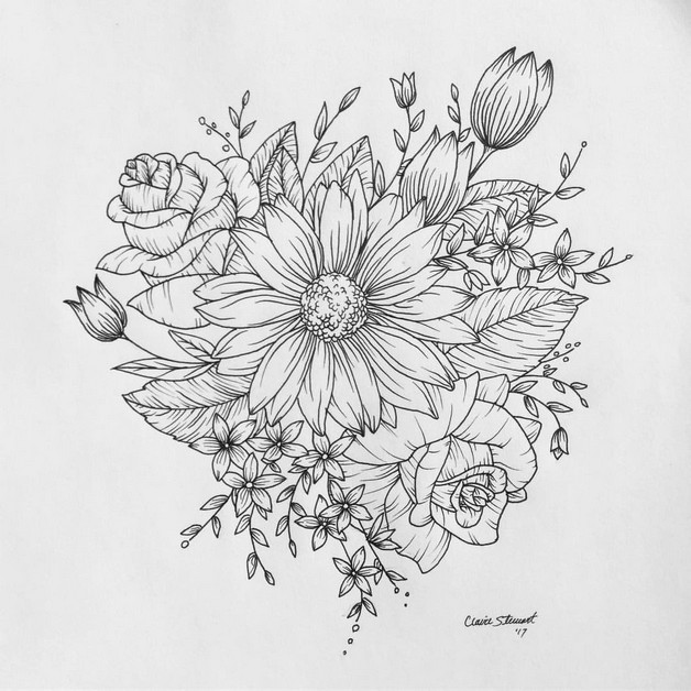 Another Floral Tattoo Design photo - 1