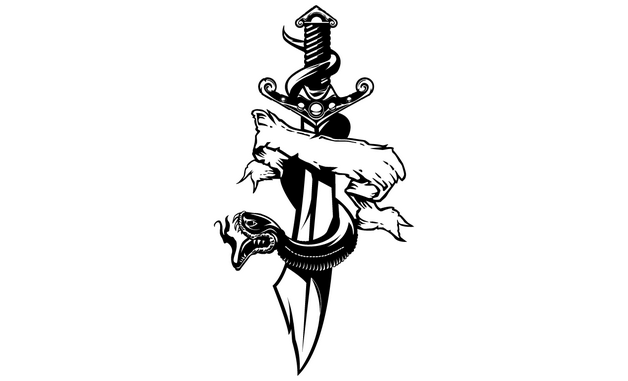 Army Dagger Tattoo Design photo - 1