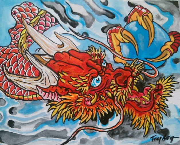 Asian Dragon & Tiger Image photo - 1