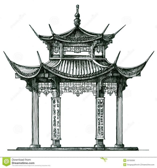 Asian Temple Tattoo photo - 1