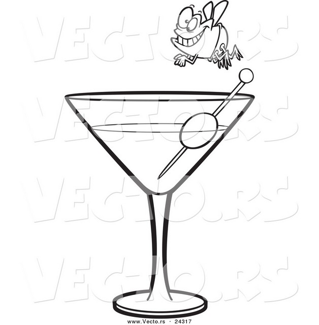 Attractive Cocktail Glass Tattoo photo - 1