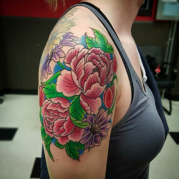 Awesome Flower Tattoo photo - 1