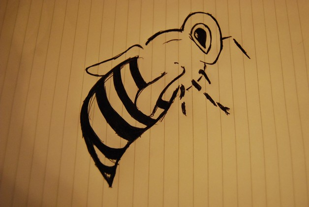 Awesome Honey Bee Tattoo Design photo - 1