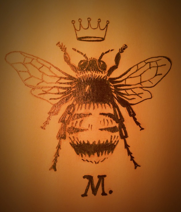 Awesome Queen Bee Tattoo On Hip