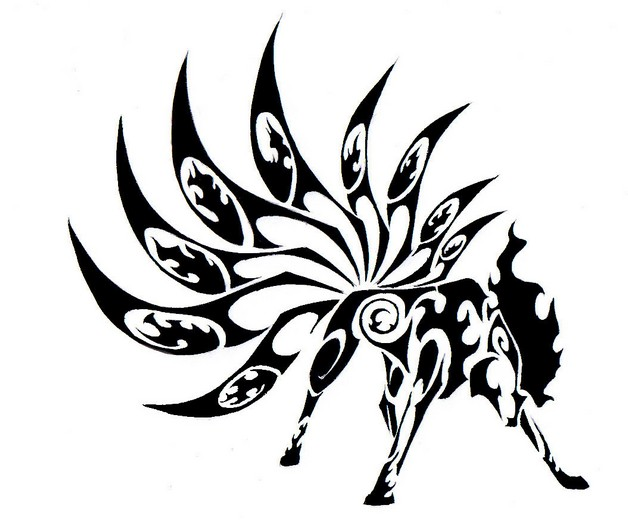 Awesome Tribal Bee Tattoo Design photo - 1