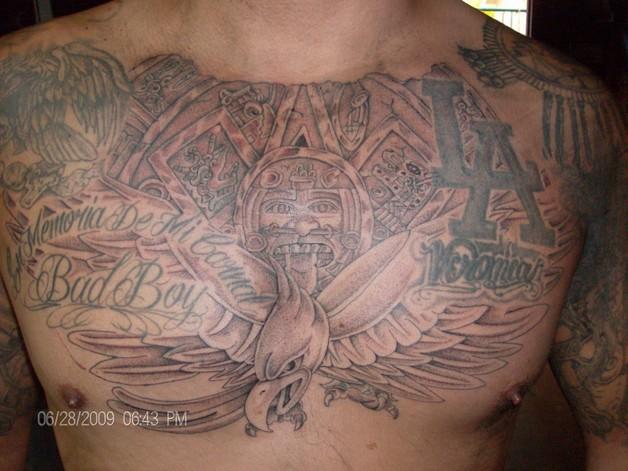 Aztec Eagle Tattoo On Chest photo - 1