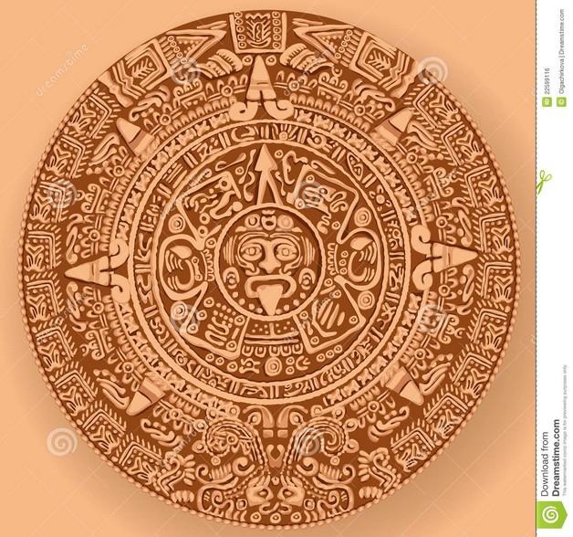 Aztec Mexican Tattoo Design photo - 1