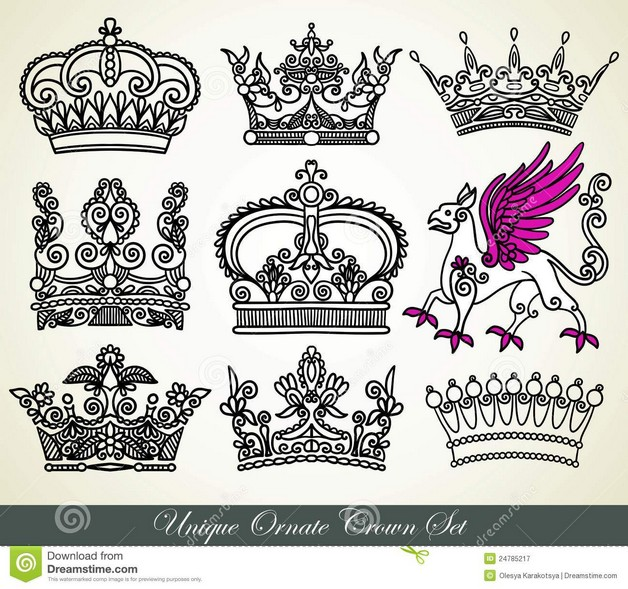 Back Ear Queens Crown Tattoo For Girls photo - 1
