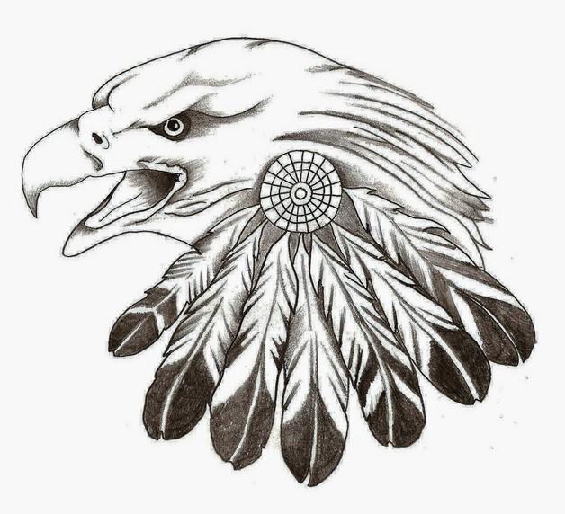 Bald Eagle Feather Tattoo Design photo - 1