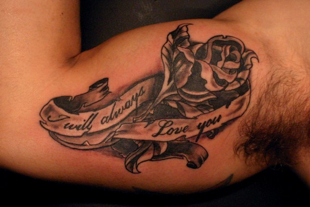 Banner Tattoo On Biceps photo - 1