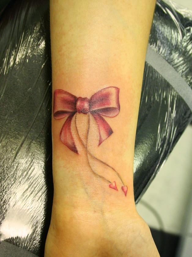 Beautiful Girly Ribbon Bow Tattoo photo - 1