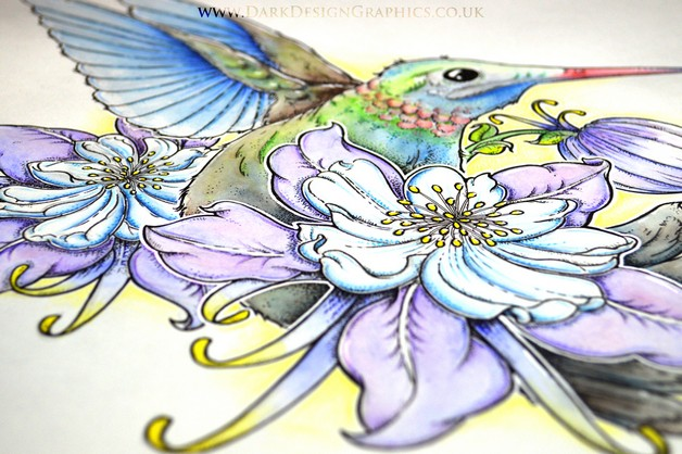 Beautiful Hummingbird Tattoo Design photo - 1