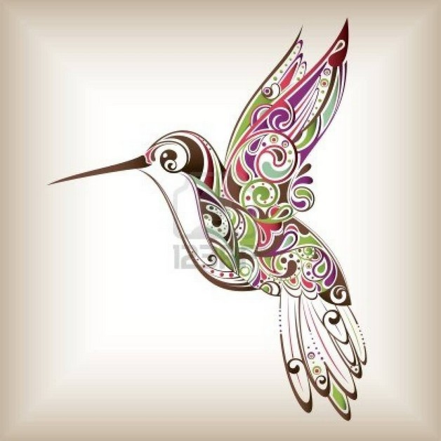 Beautiful Hummingbird Tattoo n A Banner photo - 1