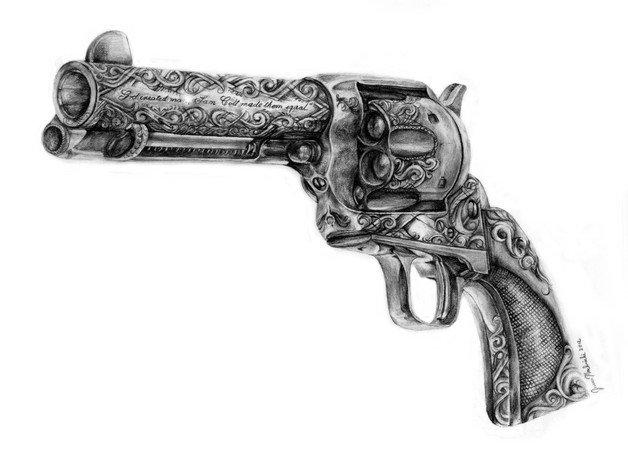 Beautiful Jessica Rabbit With Pistol Tattoo photo - 1