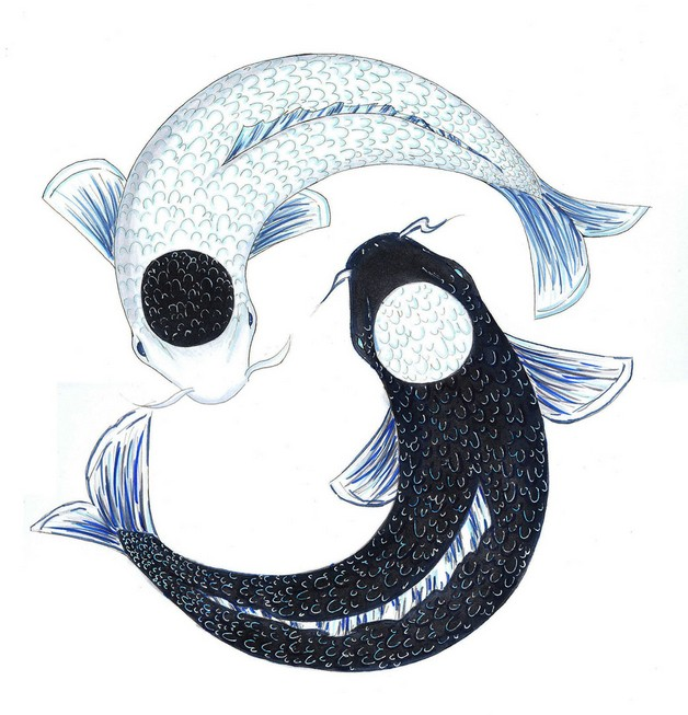 Beautiful Koi Yin Yang Tattoo photo - 1