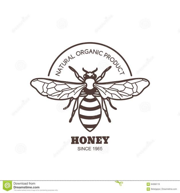 Bee Outline Logo Tattoo Design photo - 1