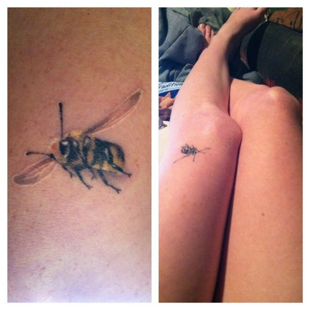Bee Tattoo Design For Knee photo - 1