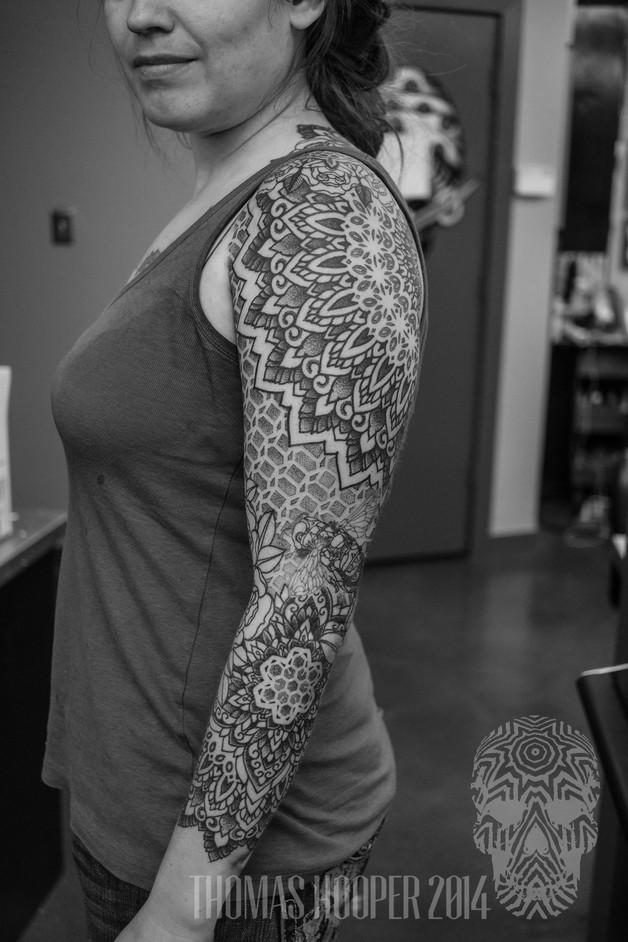 Bee Tattoo Design On Chest photo - 1