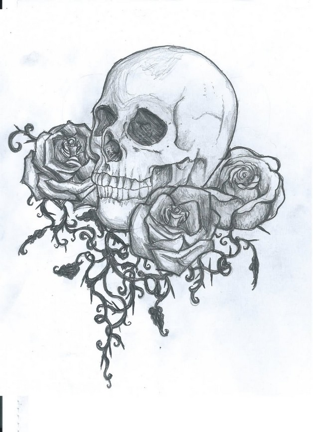 Betty Mexican Skull Tattoo Design photo - 1