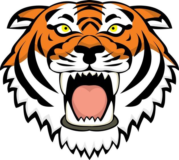 Big Tiger Head Tattoo On Upper Back photo - 1