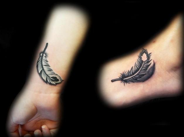 Black And White Yin Yang Tattoo On Arm photo - 1