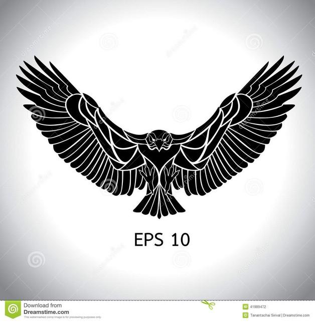 Black Eagle Tattoo Design photo - 1