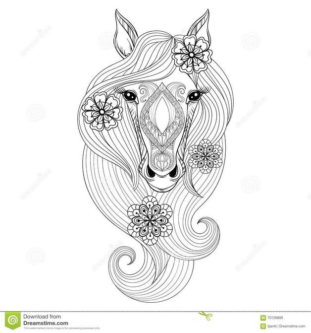 Black Horse Head Hand Tattoo photo - 1
