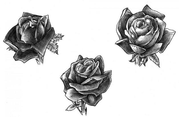black rose tattoo design. Black Bedroom Furniture Sets. Home Design Ideas