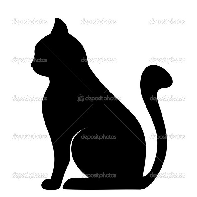 Black Sitting Cat Tattoo photo - 1