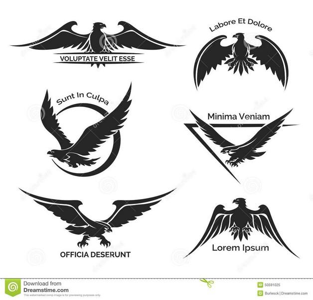 Black and White Eagle Tattoo photo - 1
