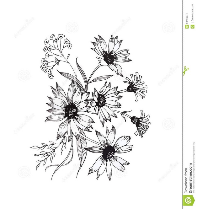 Black n White Flower Hand Tattoo photo - 1
