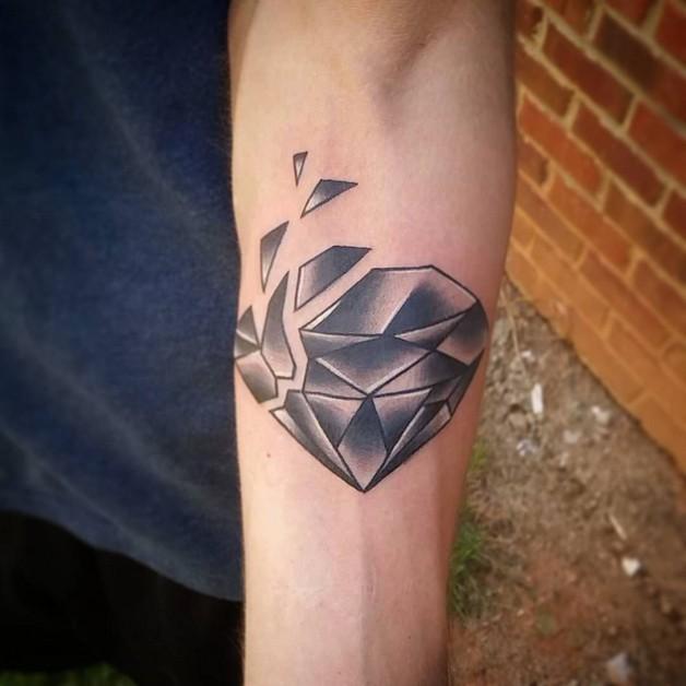 Blue Diamond Tattoo Design photo - 1