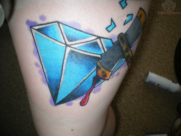 Blue Diamond Tattoo Picture photo - 1