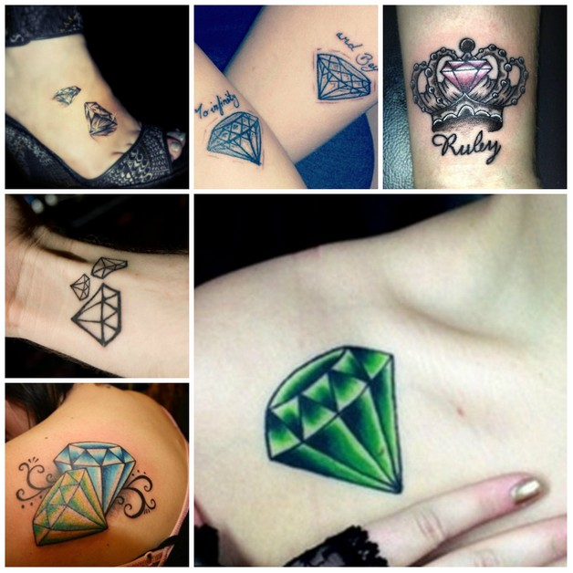 Blue Diamond n Crown Tattoo Design photo - 1