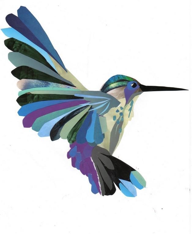 0a531952a Blue Hummingbird Tattoo Graphic