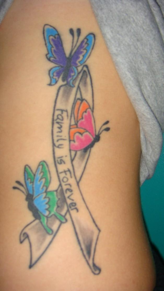 Butterfly Tattoo Ribbon Best Tattoo Ideas