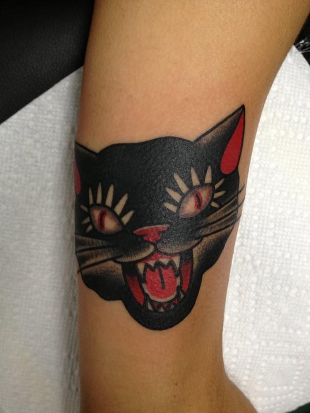 Brilliant Cat Face Tattoo photo - 1
