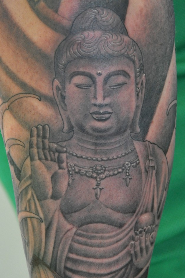 Buddha In Glass Realistic Tattoo photo - 1