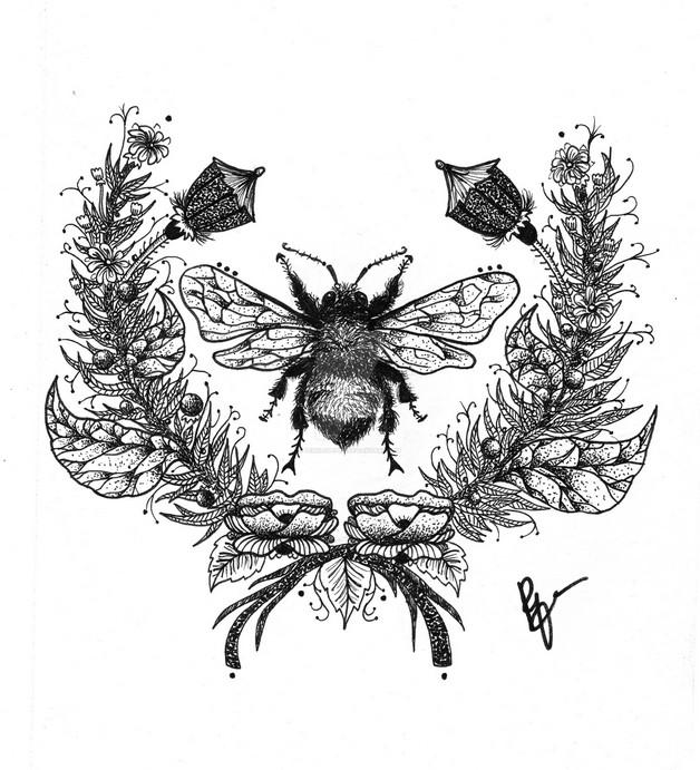 Bumblebee Tattoo Graphic photo - 1