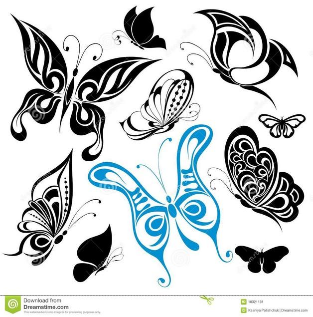 Butterfly Flower Tattoo Design photo - 1