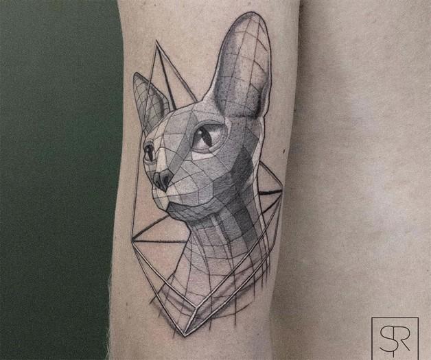 Cat Figure Tattoo photo - 1