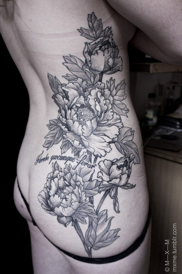 Cherry Blossom Tattoo On Back Of Body photo - 1